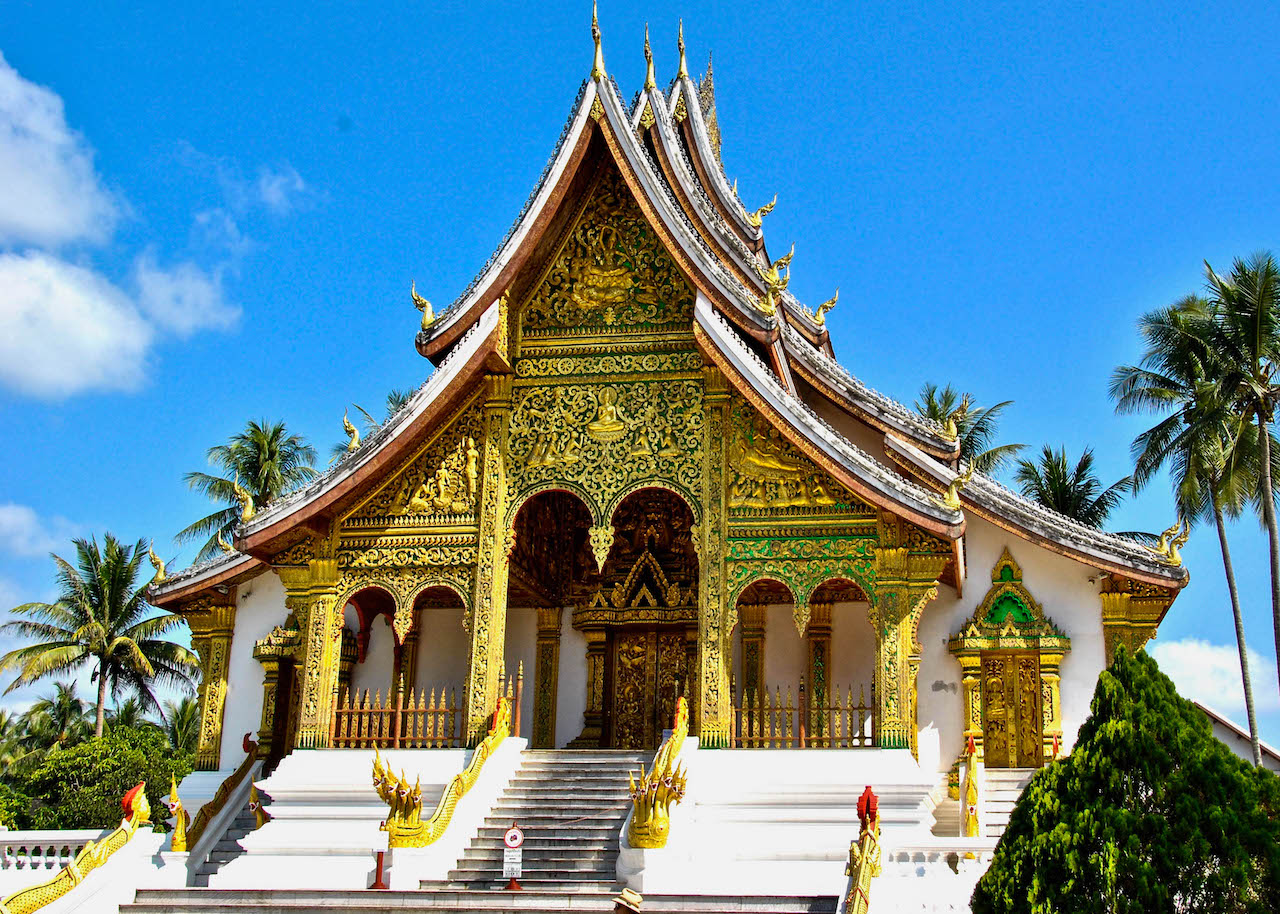 An elaborate Buddhist temple in Luang Prabang.