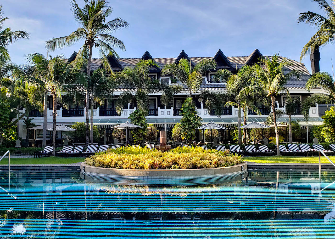 A stunning hotel and pool near Siem Reap, Cambodia.