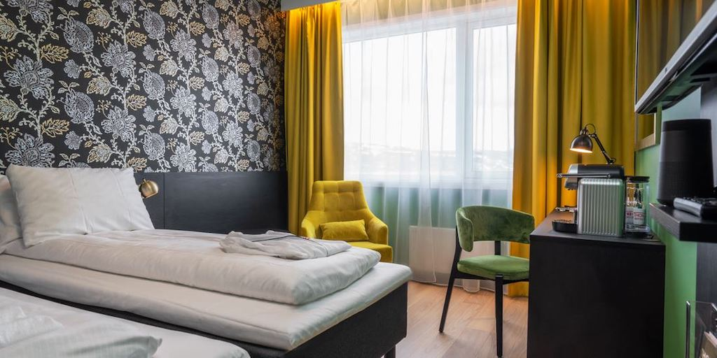 A preview of a Twin Room at the Thon Hotel Kirkenes.