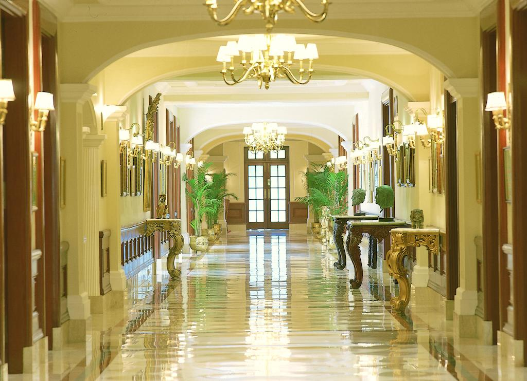 An opulent hallway inside The Imperial in New Delhi.