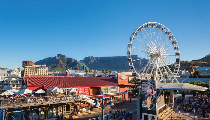 Cape Town's iconic ferris wheel near The Watershed market.