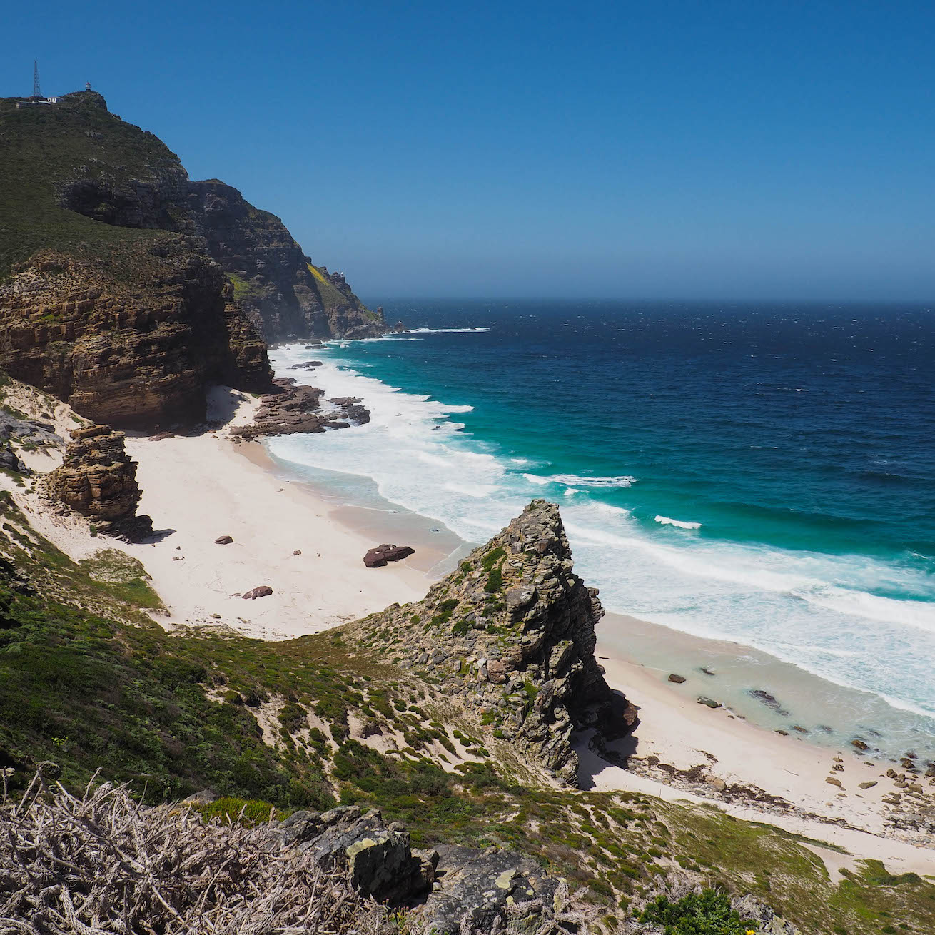 A scenic shot of Cape of Good Hope.