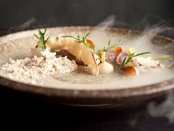 A delicious, modern dish at Greenhouse in Cape Town.