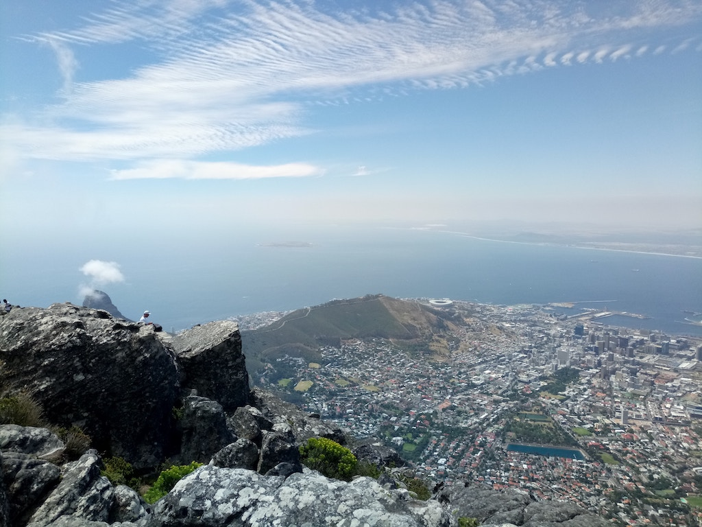 An epic view of Cape Town as seen from the top of Table Mountain.