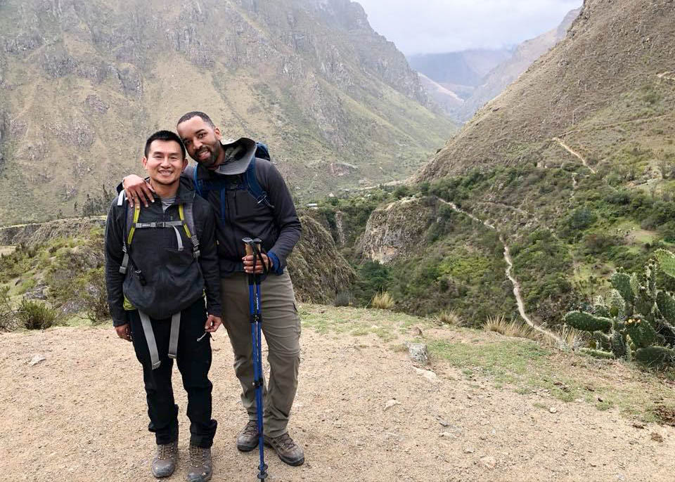 Our hikers in the Andes.