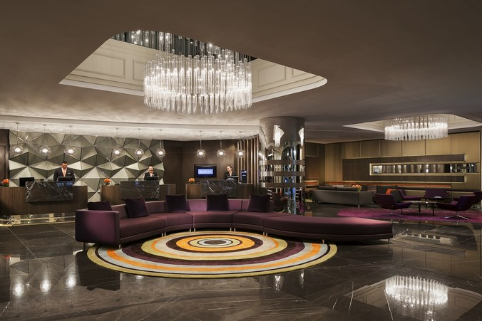 The common area at Pullman Sydney Hyde Park.