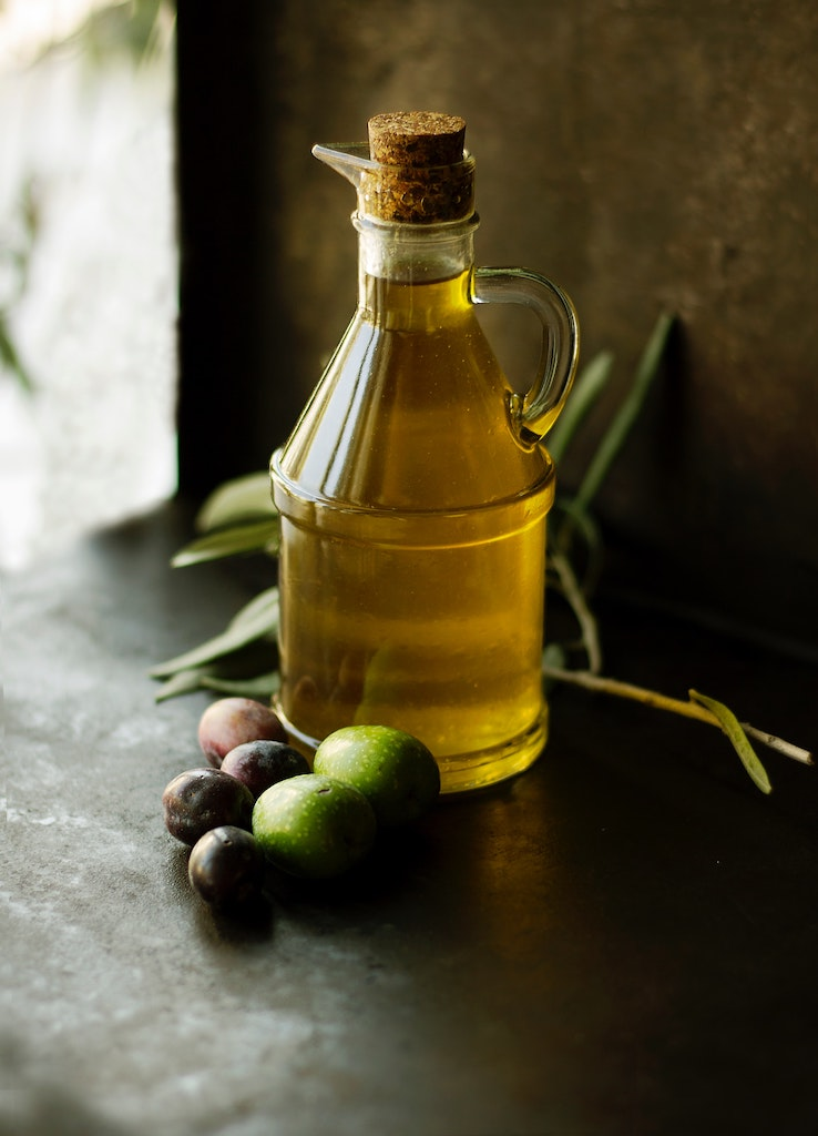 A pretty photo of cold-pressed olive oil in Croatia.