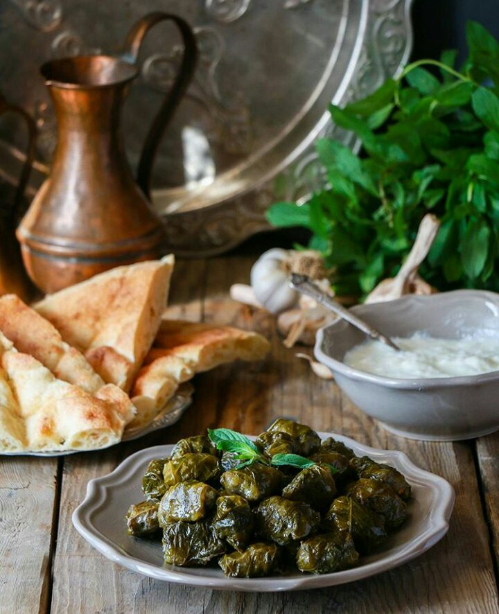 Croatia's famous Sarma are served with pita.