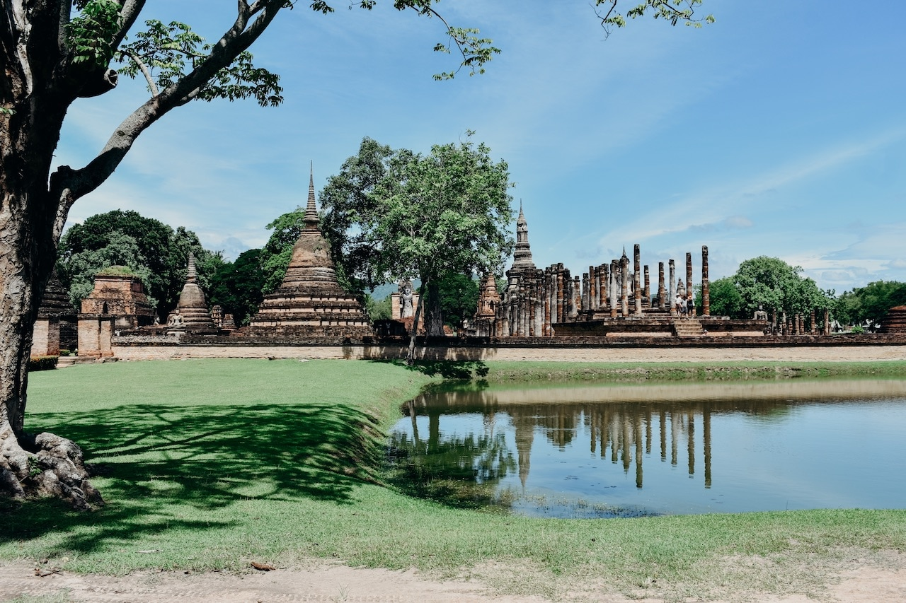 Old Buddhist temples in Thailand.