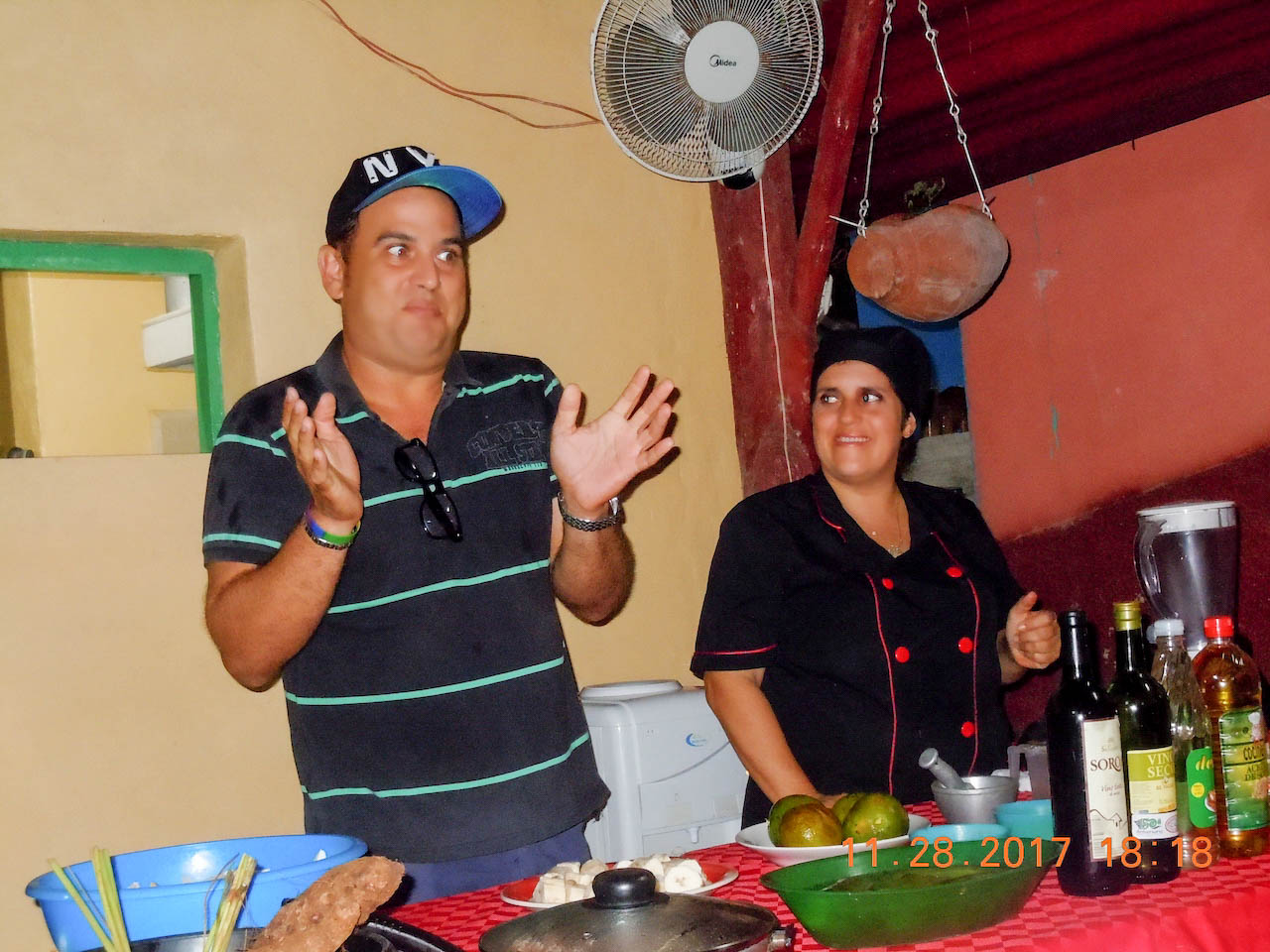 Out Adventures' gay Cuba guide leading an authentic Cuban cooking class.
