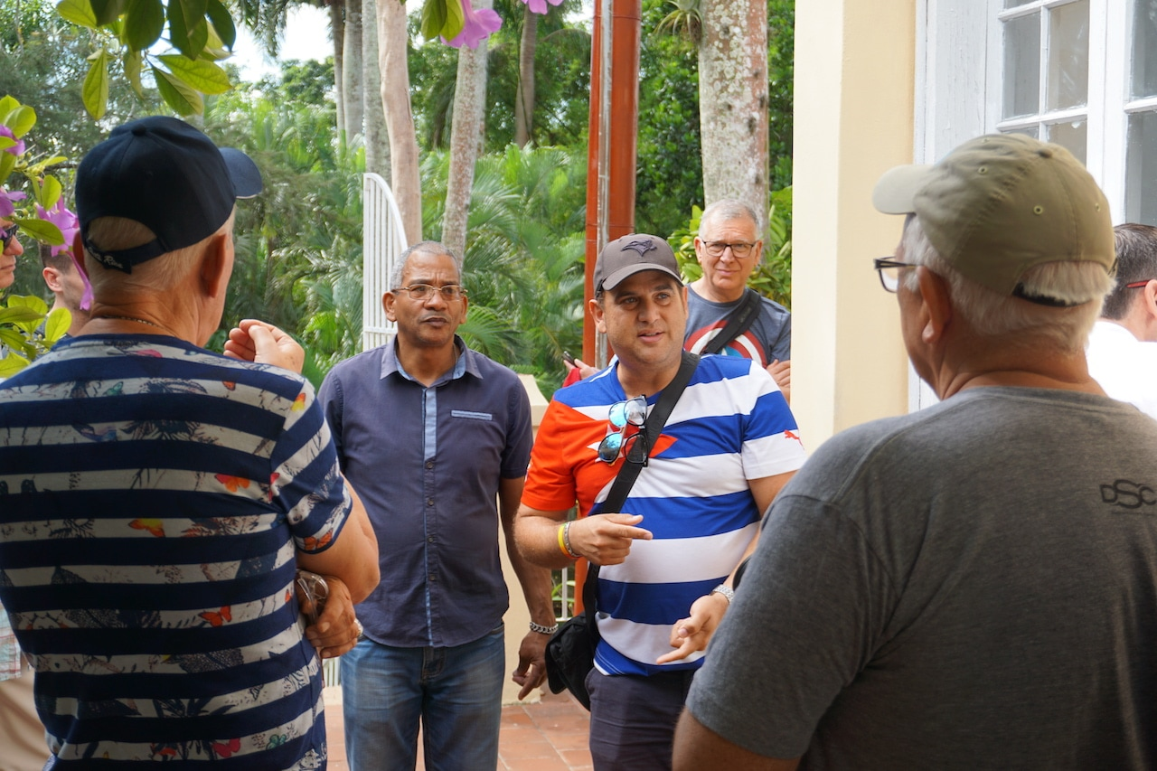 Out Adventures' gay Cuban guide shows visitors Hemingway House.