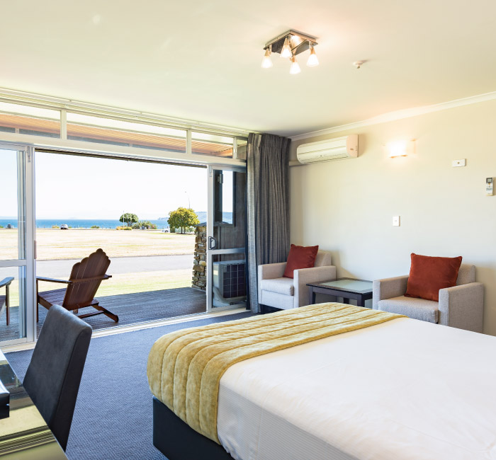 Rooms with a view at Suncourt Resort Lake Taupo.