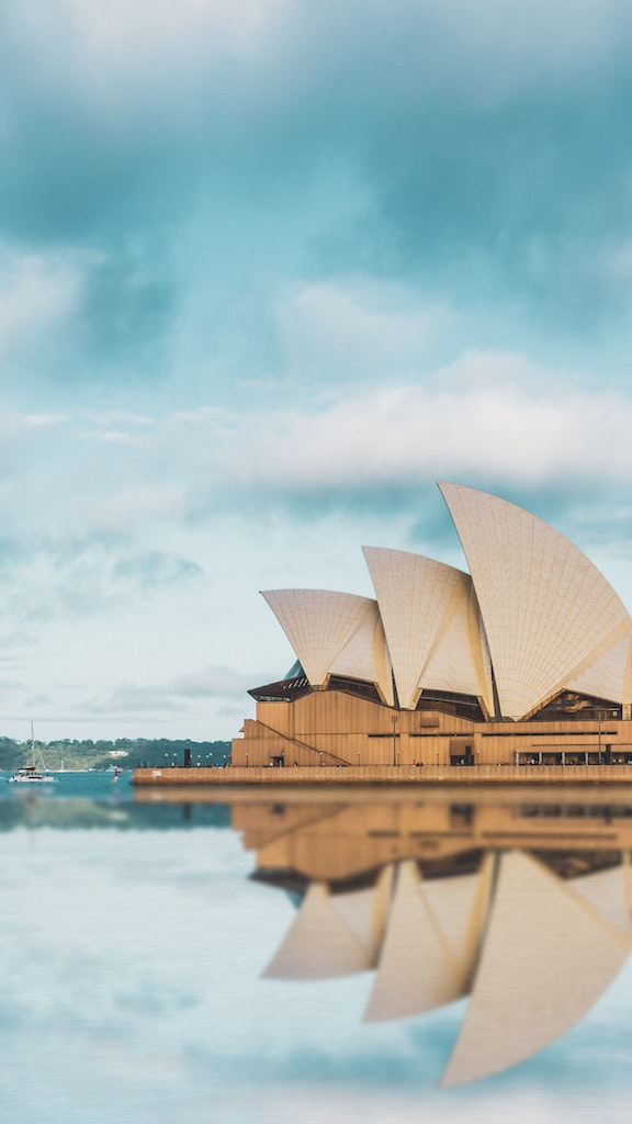 The beautiful Opera House in Sydney.